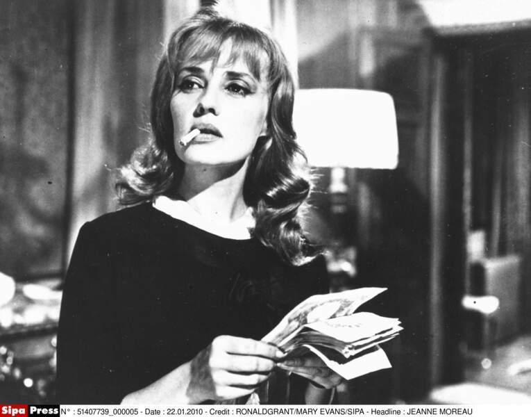 Jeanne Moreau en plein tournage