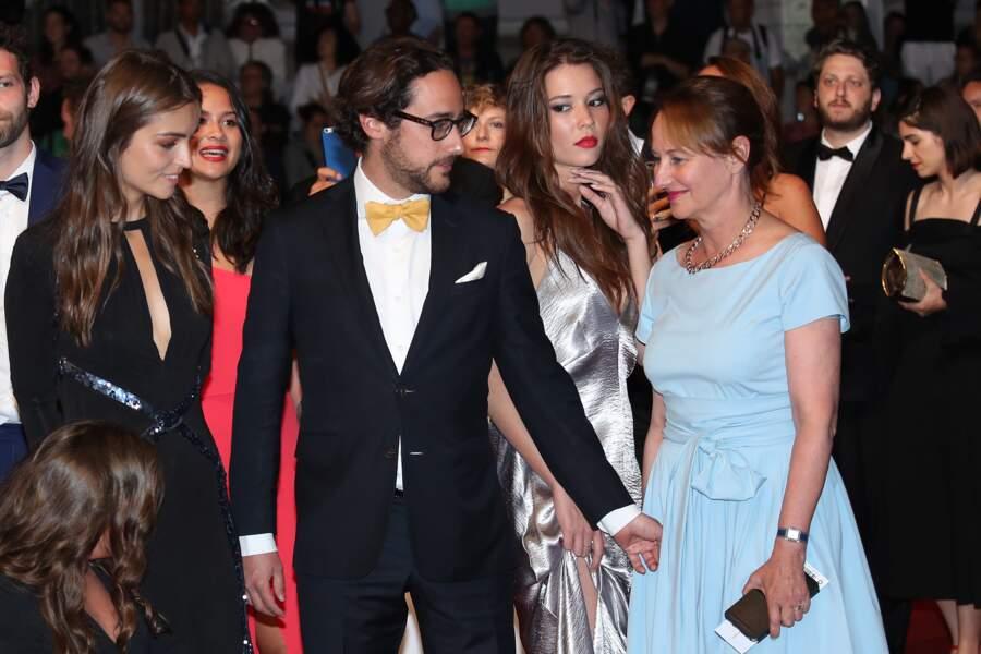 Festival de Cannes : Ségolène Royal, son fils Thomas Hollande,sa compagne Emilie Broussouloux