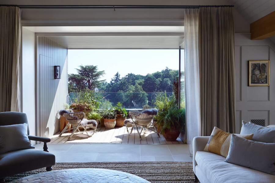 Une suite à 12 000 euros la nuit avec terrasses privées et vue sur la campagne