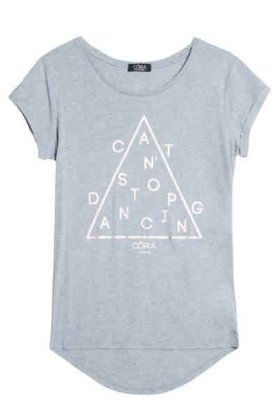 Collection Sport Oôra, T-shirt texte doré, 19,99€