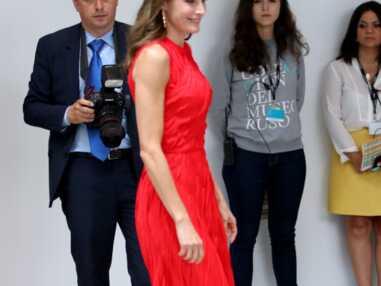 Letizia d'espagne en petite robe rouge