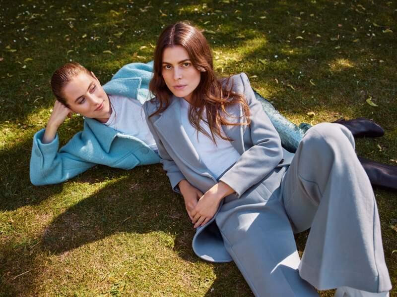 Langley Fox et sa soeur Dree Hemingway incarnent la tendance seventies de cette saison chez Mango.