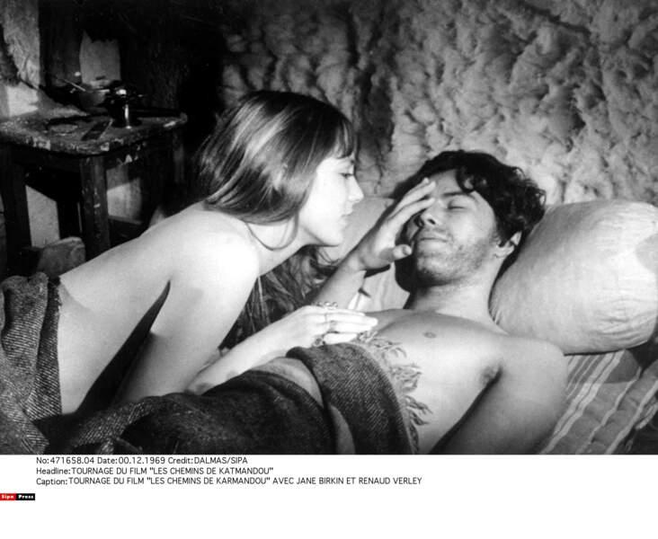 """Avec Renaud Verley dans """"Les chemins de Katmandou"""" (1969)"""