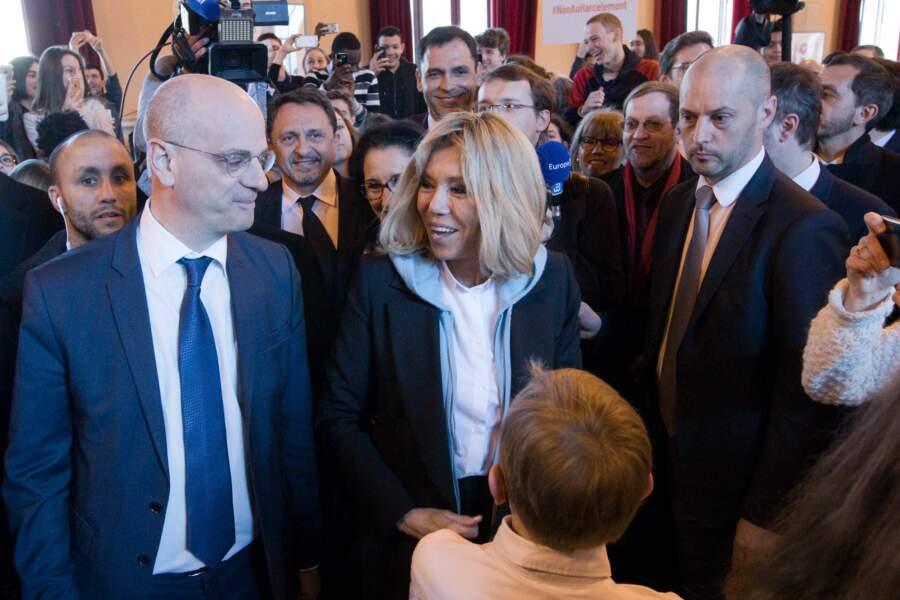 Brigitte Macron, présente pour aborder le thème du harcèlement