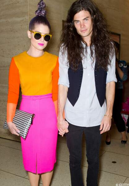 Kelly Osbourne et son boyfriend à la Fashion Week de New York: des looks improbables