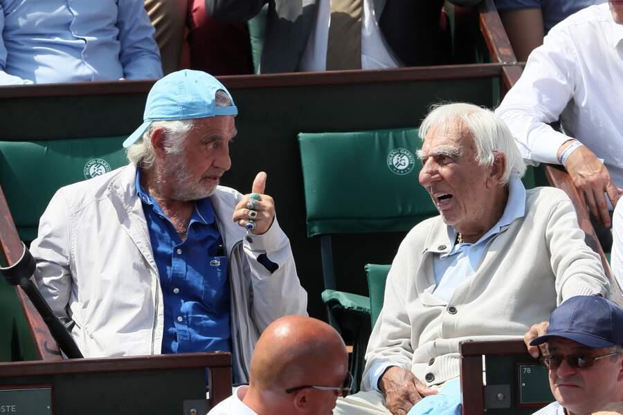 Jean-Paul Belmondo se détend Roland-Garros
