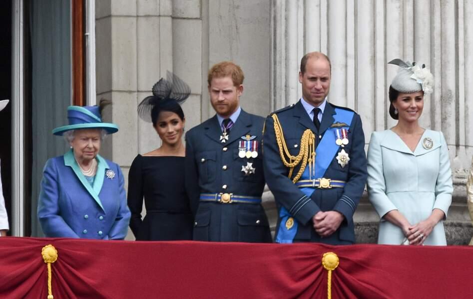 Lors de la parade aérienne de la RAF pour le centième anniversaire au palais de Buckingham à Londres. 10/07/18.