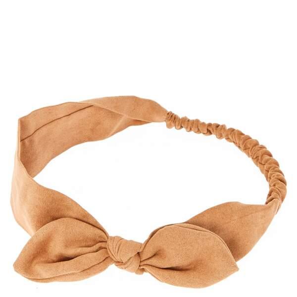 Bandeau à noeud en suédine, Claire's, 5,99 €