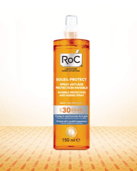 Spray anti-âge Protection Invisible Soleil Protect, Roc, 18,95 €
