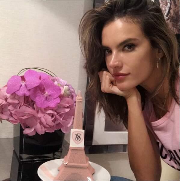 Alessandra Ambrosio arrivée à son hôtel