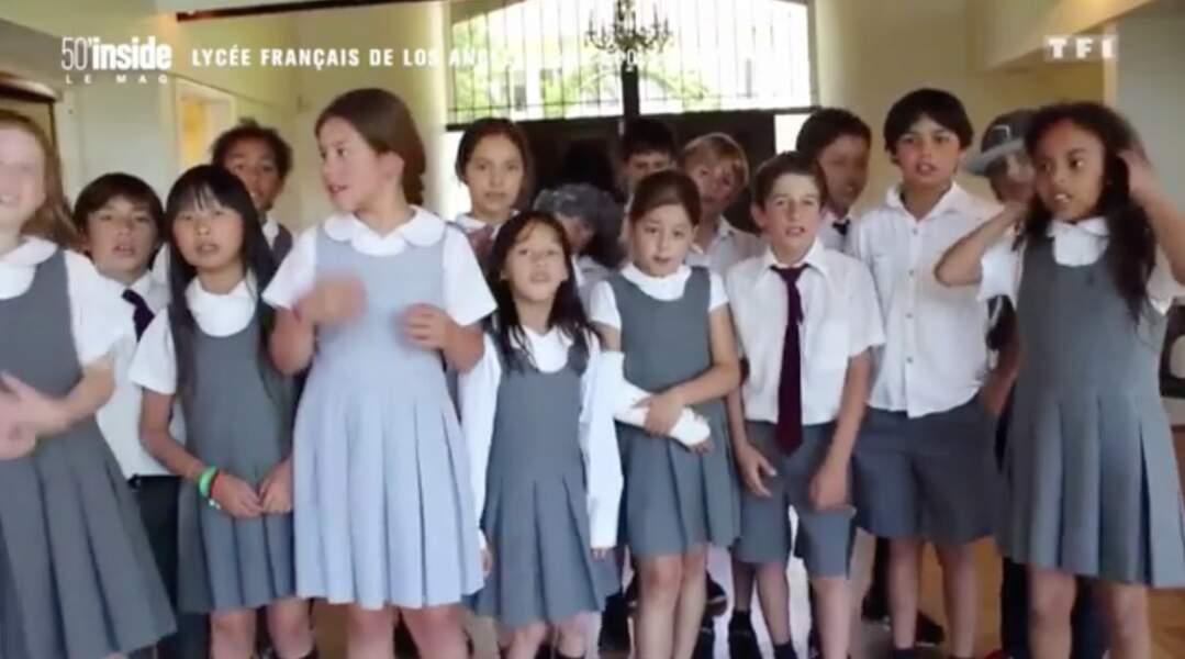 Jade Hallyday déjà artiste : à la chorale du lycée français de Los Angeles