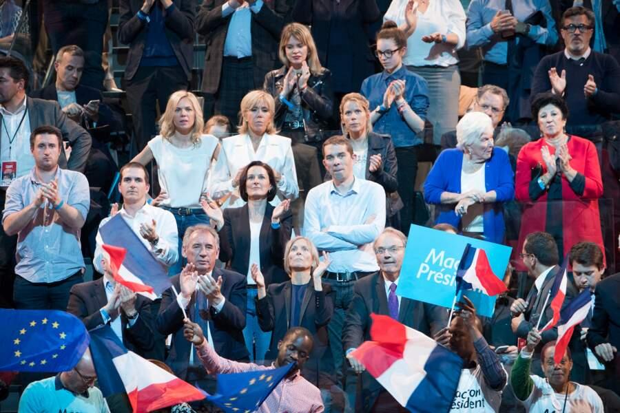 Sébastien, le fils de Brigitte Macron au meeting du 17 avril