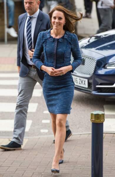 Kate Middleton était en visite ce lundi à l'hôpital Kings College à Londres