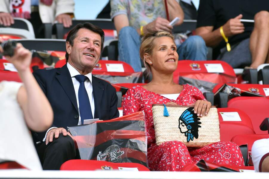 Laura tenoudji et Christian Estrosi ont assisté à la rencontre OGC Nice - Ajax d' Amsterdam