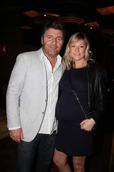 Philippe Lellouche et sa compagne Vanessa Boisjean, enceinte, le 19 avril 2018