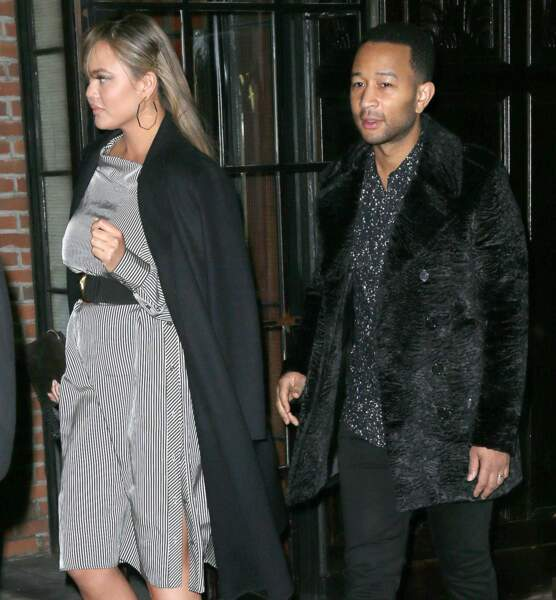 John Legend et Chrissy Teigen à New York.
