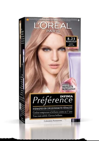 Préférence Rosegold, L'Oréal Paris, 11,90 €