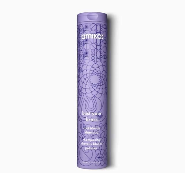 Pour mater les reflets chauds: Cool Blonde Shampoo, Amika, 300 ml, 25€