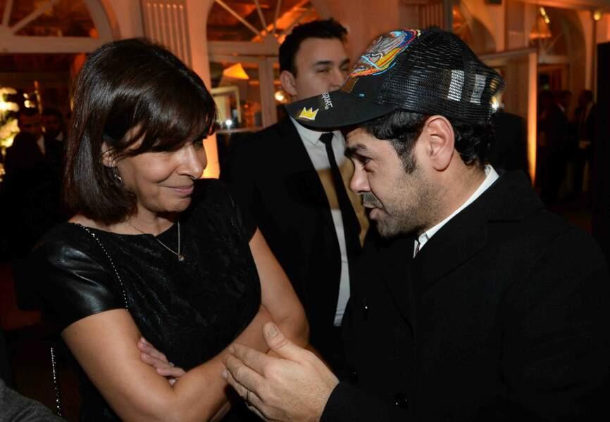 La maire de Paris Anne Hidalgo et Jamel Debbouze