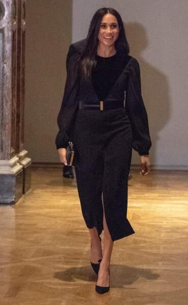 Meghan Markle le 25 septembre  : une robe noire qui laisse aussi planer le doute