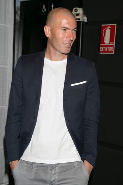 """Zinédine Zidane à la conférence de presse de la 12ème édition du prix """"Dialogo"""" à Madrid le 9 juin 2015"""