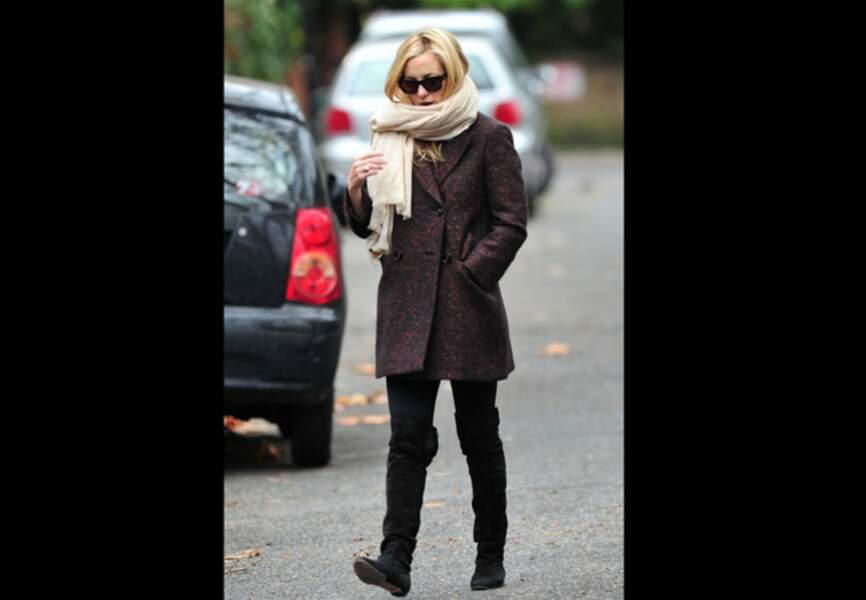 Kate Hudson, du plat pour affronter le froid