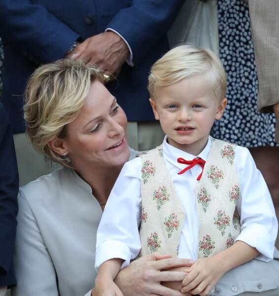 La princesse Charlène de Monaco cultive la ressemblance avec son fils, le prince Jacques de Monaco