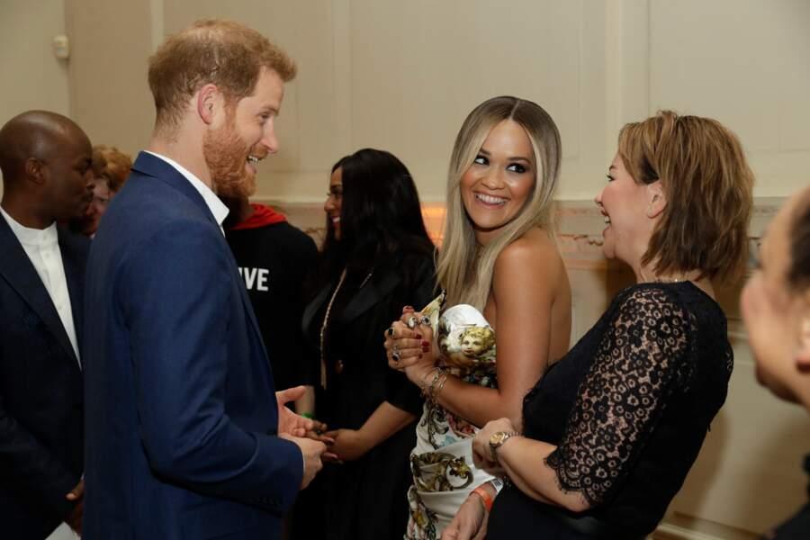 Le duc de Sussex a remercié Rita Ora pour sa participation à l'événement, le 11 juin 2019
