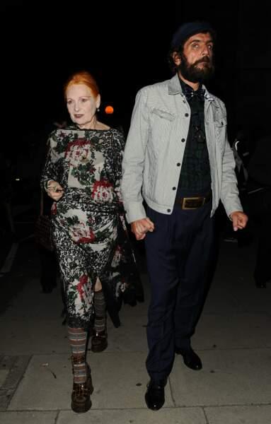 La styliste britannique Vivienne Westwood (76 ans) et son mari Andreas Kronthaler, de 25 ans son cadet