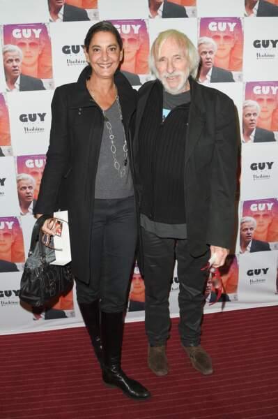 Pierre Richard et sa femme Ceyla Lacerda, ce 3 décembre à Bobino à Paris