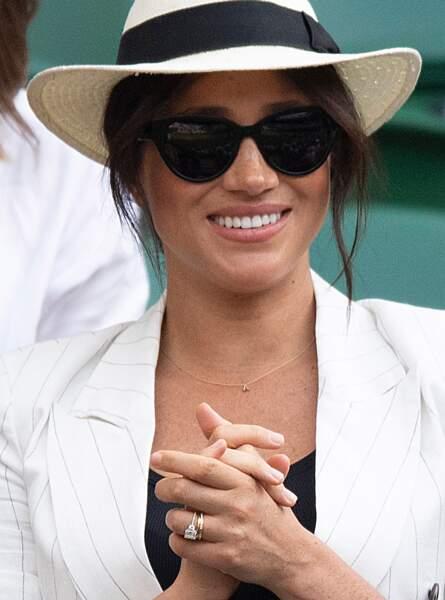 Meghan Markle à Wimbledon le 4 juillet 2019 renoue avec son fameux chignon flou