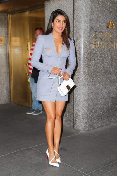 "Priyanka Chopra sort de l'émission ""Late Night with Seth Meyers"" à New York"
