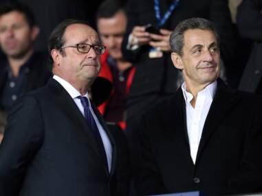 François Hollande et Nicolas Sarkozy au Parc des Princes