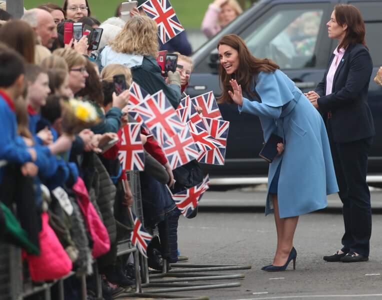 La duchesse de Cambridge lors de sa visite en Irlande du Nord, le 28 février 2019.