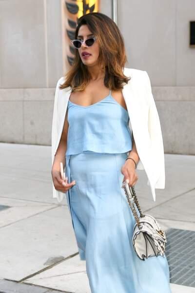 Dans les rues de New York, l'actrice ne manquait pas d'allure