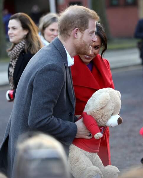 Avec Harry, ils ont également été gratifiés de peluches