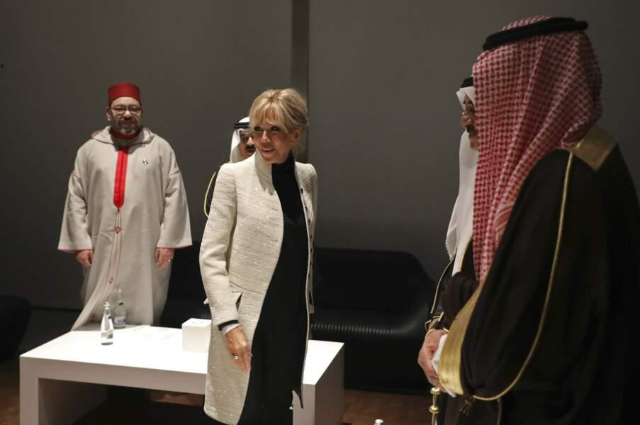 La Première dame était visiblement ravie d'être à cette inauguration !