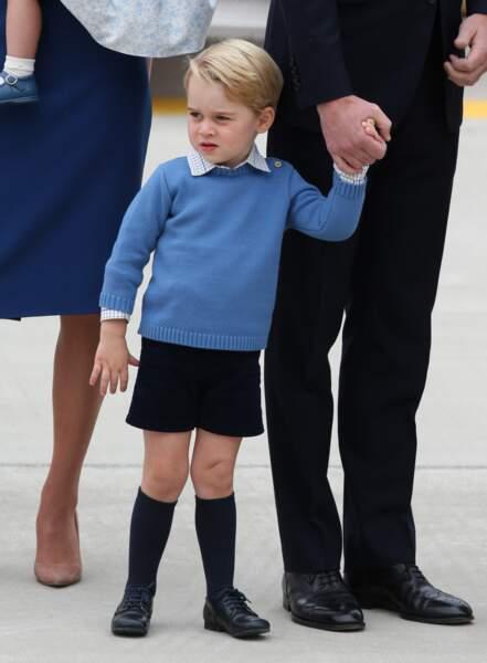 Le prince George à son arrivée à l'aéroport de Victoria au Canada, le 24 septembre 2016
