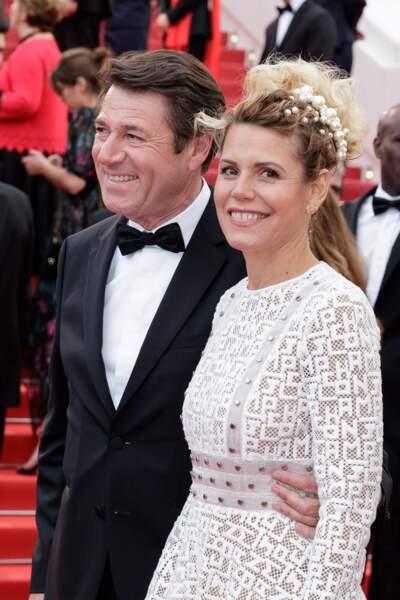 Christian Estrosi et Laura Tenoudji amoureux et complice à Cannes le 19 mai 2019