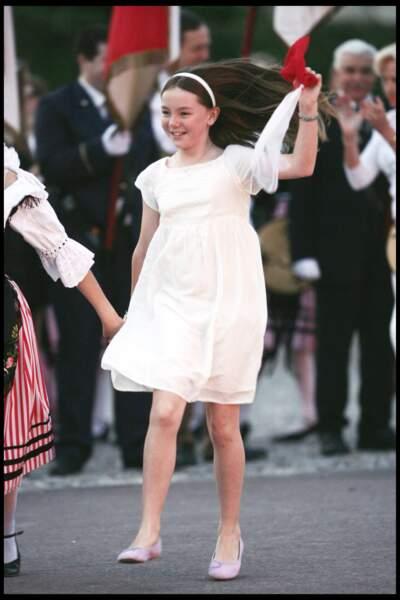 Alexandra de Hanovre fêtant la Saint-Jean à Monaco le 23 juin 2010