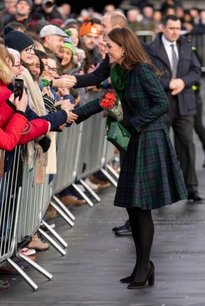 Kate Middleton en déplacement officiel en Ecosse avec le prince William, le 29 janvier 2019