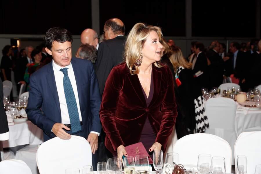 Manuel Valls et sa compagne Susanna Gallardo le 15 octobre 2018 à Barcelone pour Los Premios Planeta 2018 awards