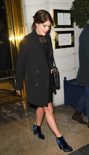 La princesse Eugenie d'York à la soirée privée Casamigos à Londres le 2 novembre 2018