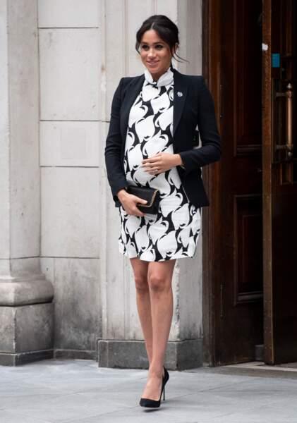 Meghan Markle au King's College à Londres, le 8 mars 2019