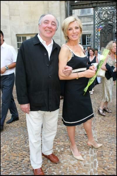 Evelyne Dhéliah et son mari Philippe à Avignon
