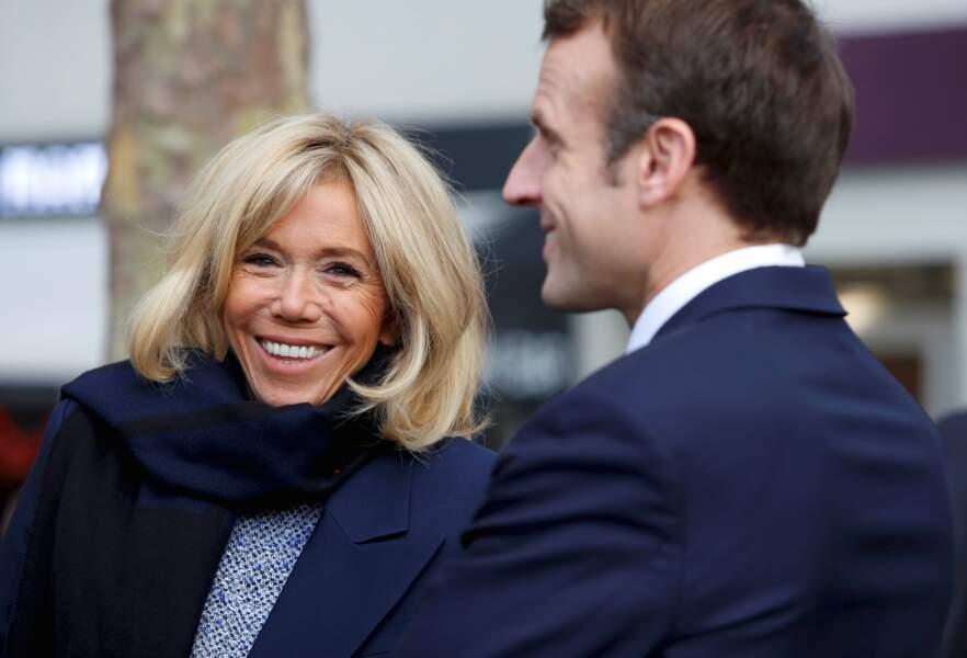 Emmanuel et Brigitte Macron au Centre Georges Pompidou le 27 novembre 2018