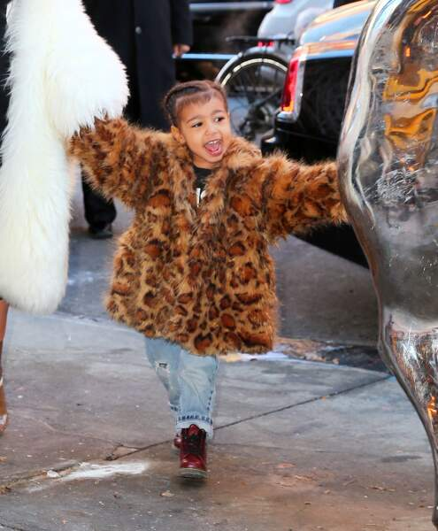 North West (la fille de Kim Kardashian et Kanye West) à New york, le 14 février 2016.