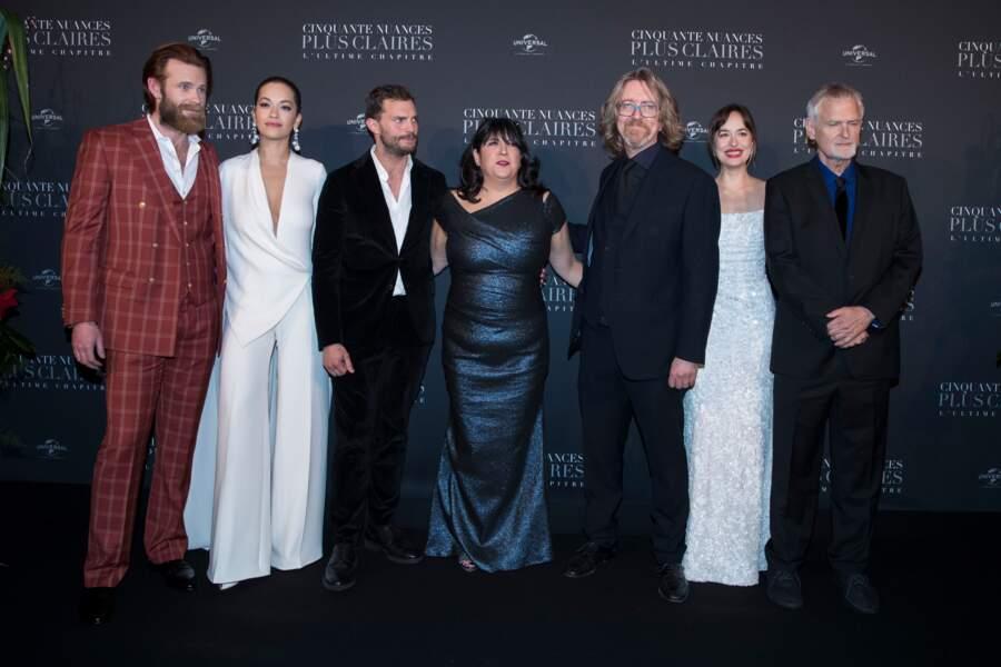 Eric Johnson, Rita Ora, Jamie Dornan, E.L. James, Guest, Dakota Johnson, James Foley