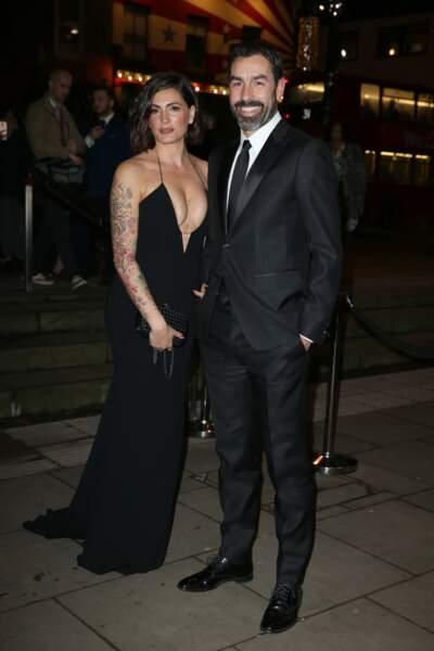 Robert Pires et sa femme Jessica, à Londres, le 18 février 2019.