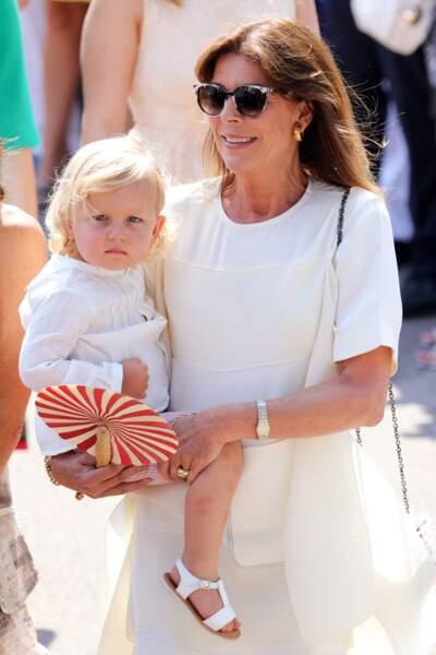 Caroline et Sacha lors des célébrations des 10 ans de règne du prince Albert le 11 juillet 2015